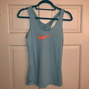 Nike baby blue Dri fit tank top